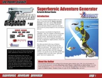 Role Playing Games - Modern Dispatch (#66): Superheroic Adventure Generator
