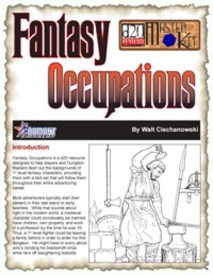 Role Playing Games - Fantasy Occupations