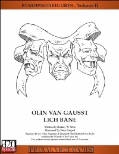 Role Playing Games - Renowned Figures - Olin Van Gausst, Lich Bane