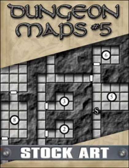 Role Playing Games - STOCK ART: Dungeon Maps #5