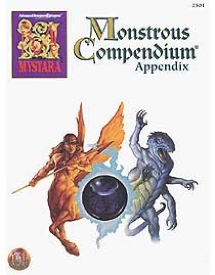 Role Playing Games - Monstrous Compendium - Mystara Appendix