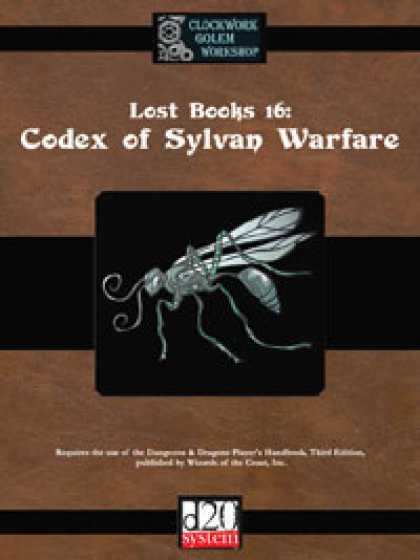 Role Playing Games - Lost Books 16: Codex of Sylvan Warfare