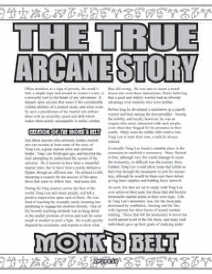 Role Playing Games - The True Arcane Story: Monk's Belt