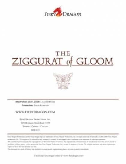Role Playing Games - Counter Pack: Ziggurat Of Gloom