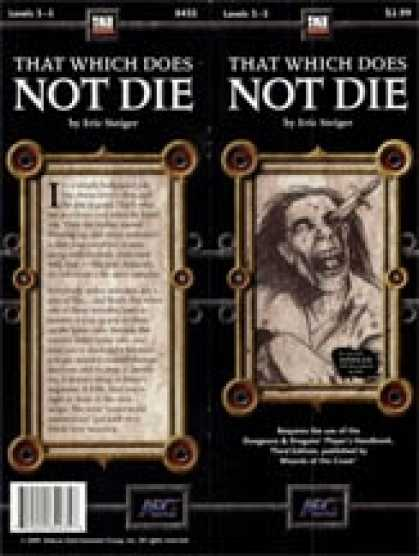 Role Playing Games - That Which Does Not Die