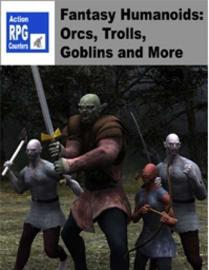 Role Playing Games - Action RPG Counters - Fantasy Humanoids: Orcs, Trolls, Goblins.