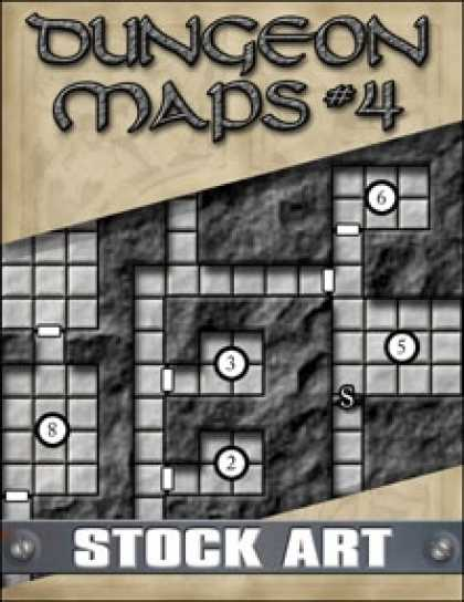 Role Playing Games - STOCK ART: Dungeon Maps #4