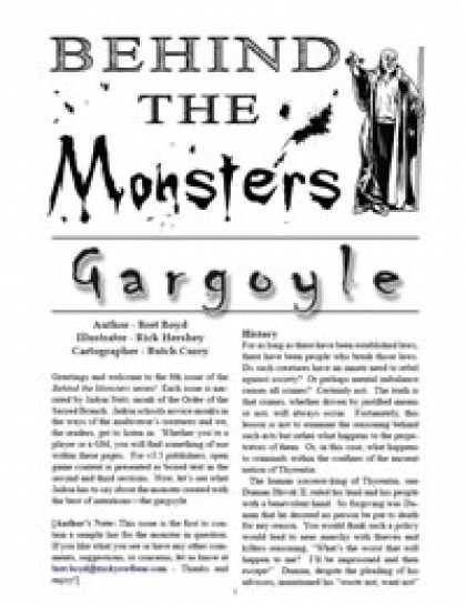 Role Playing Games - Behind the Monsters: Gargoyle