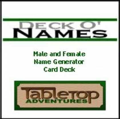 Role Playing Games - Deck O' Names Card Deck 1