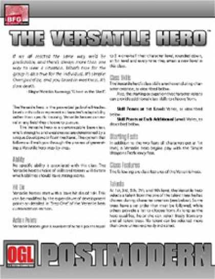 Role Playing Games - POSTMODERN: The Versatile Hero