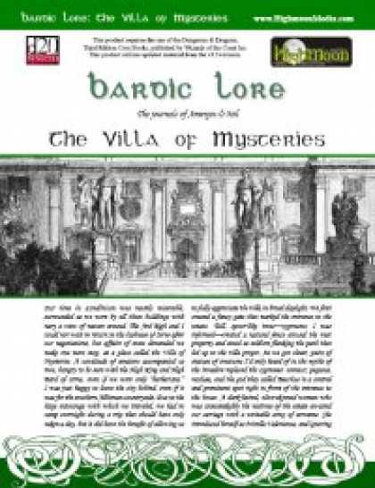 Role Playing Games - Bardic Lore: The Villa of Mysteries