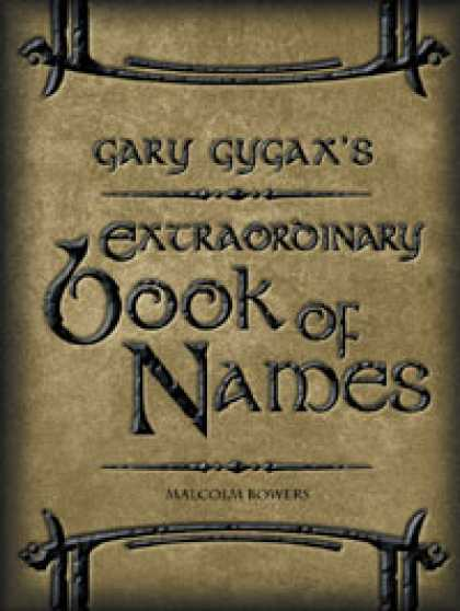 Role Playing Games - Gary Gygax's Extraordinary Book of Names