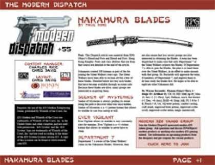 Role Playing Games - Modern Dispatch (#55): Nakamura Blades