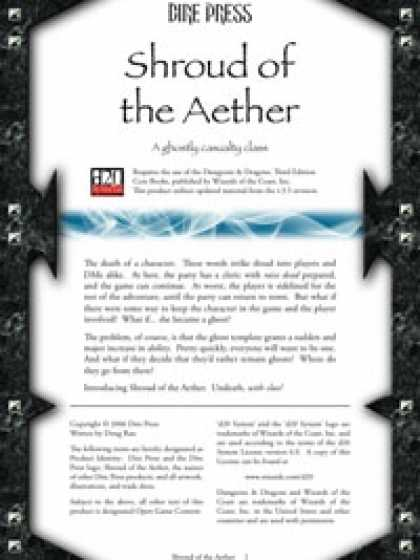 Role Playing Games - Shroud of the Aether