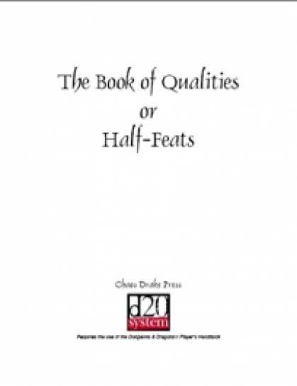 Role Playing Games - The Book of Qualities, or Half-Feats