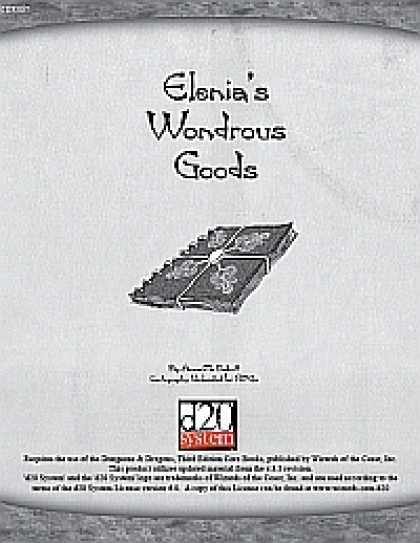 Role Playing Games - Elenia's Wondrous Goods