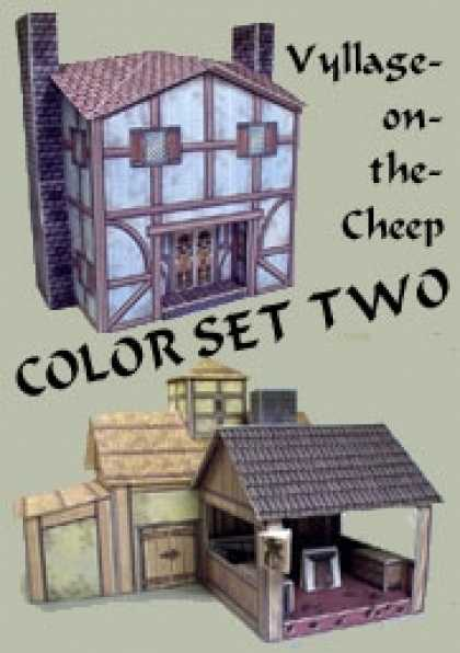 Role Playing Games - Vyllage-on-the-Cheep COLOR Buildings Set #2