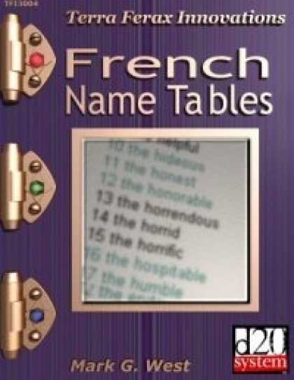 Role Playing Games - French Name Tables