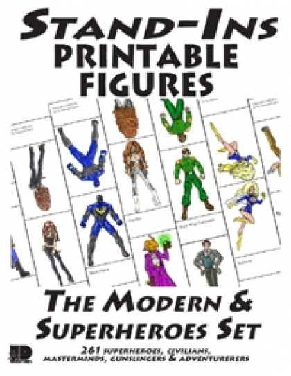 Role Playing Games - Stand-Ins Printable Figures - Modern & Superheroes Set #1