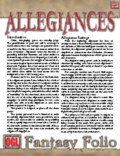 Role Playing Games - Fantasy Folio: Allegiances