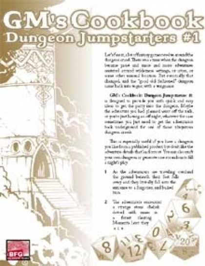Role Playing Games - GM'S COOKBOOK: Dungeon Jumpstarters #1