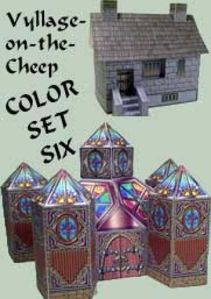 Role Playing Games - Vyllage-on-the-Cheep COLOR Buildings Set #6