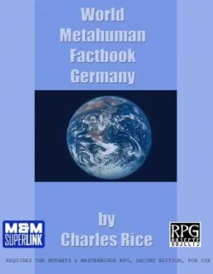 Role Playing Games - World Metahuman Factbook: Germany (M&M)