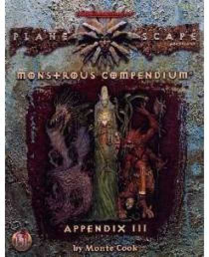 Role Playing Games - Monstrous Compendium Planescape Appendix III