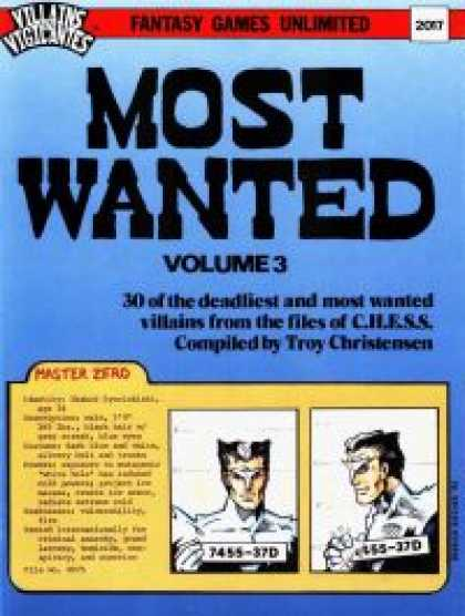 Role Playing Games - Most Wanted, Volume 3