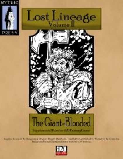 Role Playing Games - Lost Lineage Volume II - The Giant-Blooded