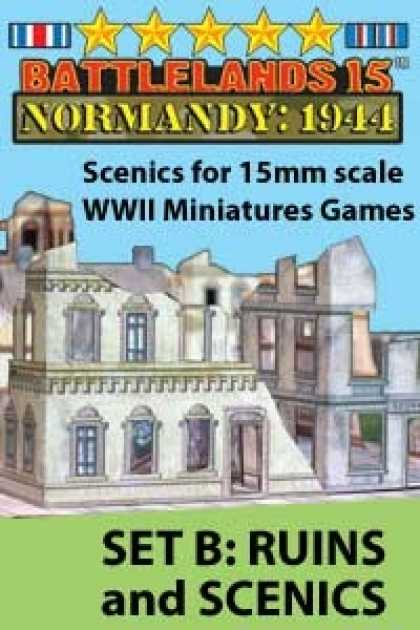 Role Playing Games - BattleLands 15mm Normandy: 1944 Set B-Ruins & Scenics