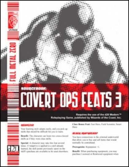 Role Playing Games - Covert Ops Feats 3