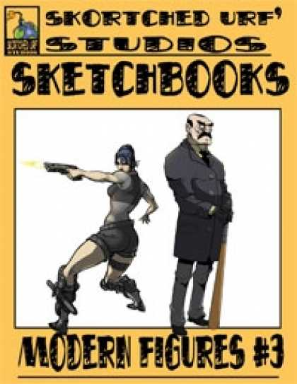 Role Playing Games - Skortched Urf' Studios Sketchbook: Modern figures #3