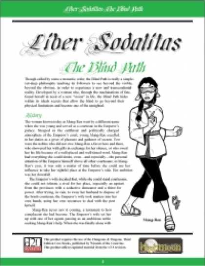 Role Playing Games - Liber Sodalitas: The Blind Path