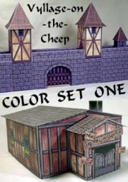 Role Playing Games - Vyllage-on-the-Cheep COLOR Buildings Set #1