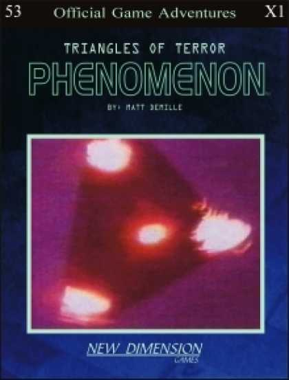 Role Playing Games - Phenomenon: Triangles Of Terror--Adventure pack X1