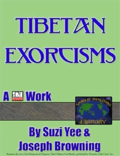 Role Playing Games - World Building Library: Tibetan Exorcisms