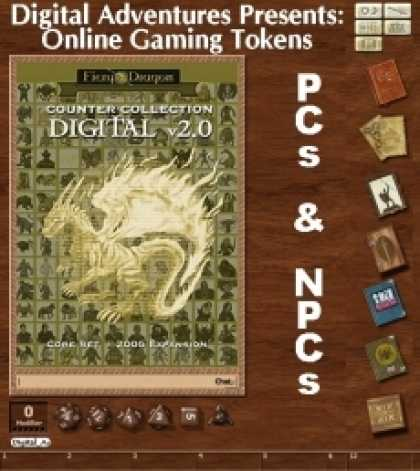 Role Playing Games - Online Gaming Tokens Pack #3: PCs & NPCs