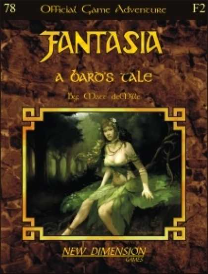 Role Playing Games - Fantasia: A Bard's Tale--Adventure F2