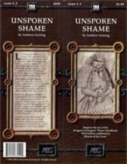 Role Playing Games - Unspoken Shame