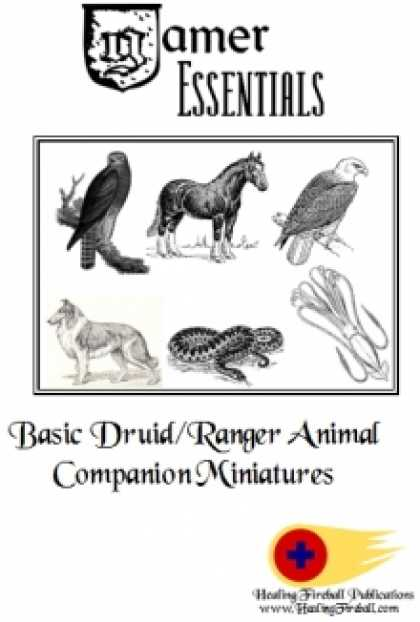 Role Playing Games - Gamer Essentials: Basic Druid/Ranger Animal Companion Miniatures