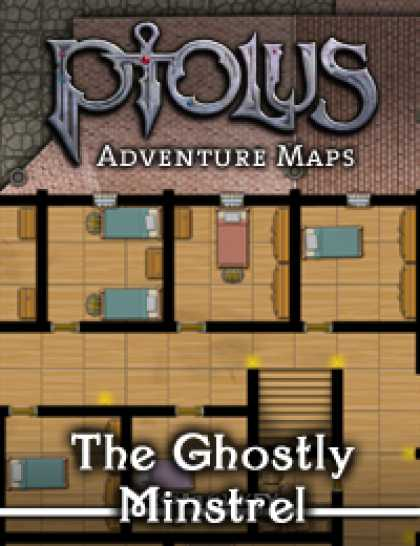 Role Playing Games - Ptolus Adventure Maps: The Ghostly Minstrel