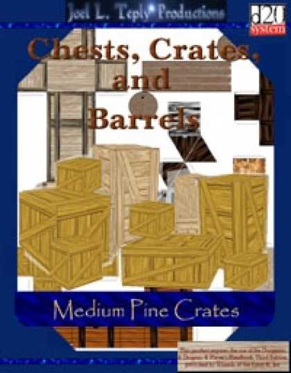 Role Playing Games - Chests, Crates, and Barrels Collection: Medium Pine Crates