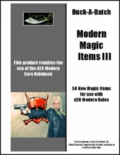 Role Playing Games - Buck-A-Batch: Modern Magic Items III