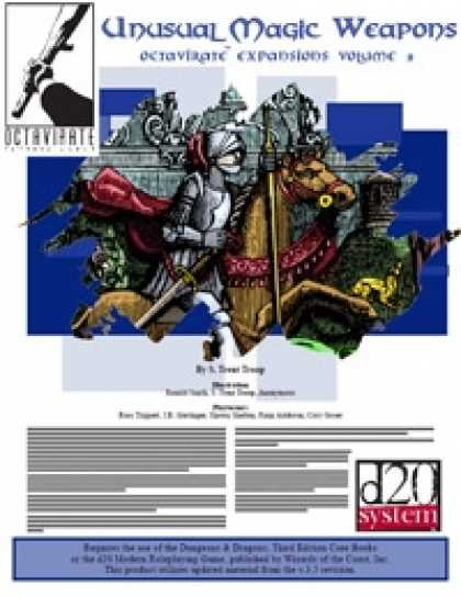 Role Playing Games - Octavirate Expansions: Unusual Magic Weapons