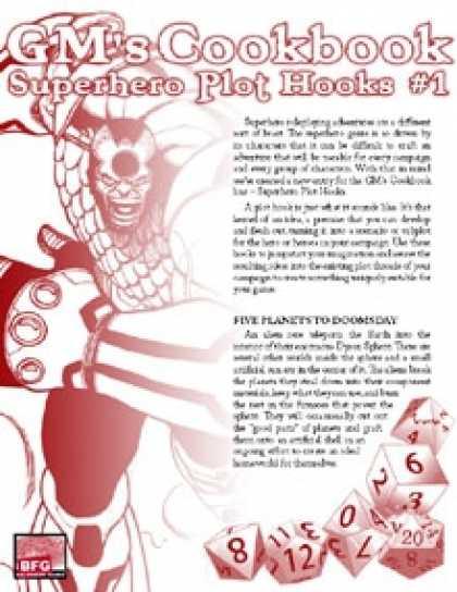 Role Playing Games - GM'S COOKBOOK: Superhero Plot Hooks #1