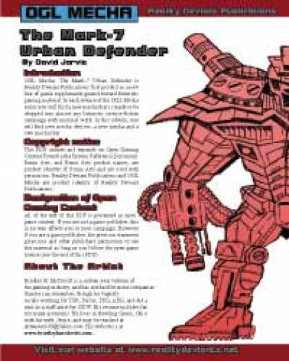 Role Playing Games - RDP: OGL Mecha: The MK.7 Urban Defender