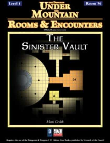 Role Playing Games - Rooms & Encounters: The Sinister Vault