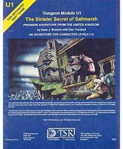 Role Playing Games - U1 - The Sinister Secret of Saltmarsh