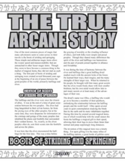 Role Playing Games - The True Arcane Story: Boots of Striding and Springing